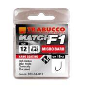 Trabucco F1 Match mikro szakállas horog 15db