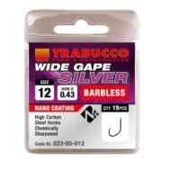 Trabucco Wide Gape Silver szakáll nélküli horog 15 db