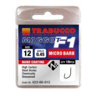 Trabucco F1 Maggot mikro szakállas horog 15 db