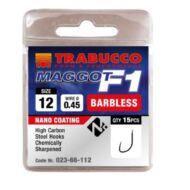Trabucco F1 Maggot szakáll nélküli horog 15 db