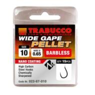 Trabucco Wide Gape Pellet szakáll nélküli horog 15 db