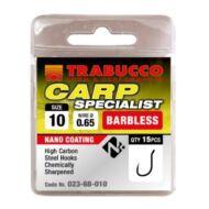 Trabucco Carp Specialist szakáll nélküli horog 15 db