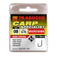Trabucco Carp Specialist mikro szakállas horog 15 db