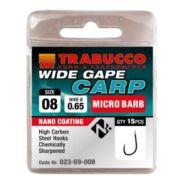 Trabucco Wide Gape Carp mikro szakállas horog 15 db