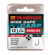Trabucco Wide Gape Carp szakáll nélküli horog 15 db