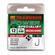 Trabucco Power Specialist mikro szakállas horog 15 db