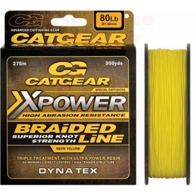 Catgear Xpower Braided 8X, fonott zsinór