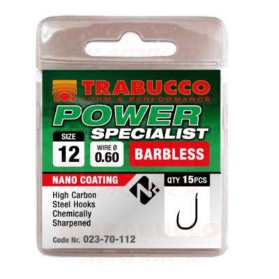 Trabucco Power Specialist szakáll nélküli horog 15 db