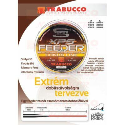 Trabucco S-Force Feeder Plus Conus 200 m elvékonyodó távdobó zsinór