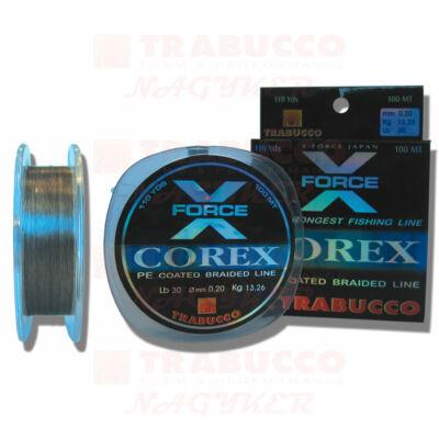Trabucco X-Force Corex Pe Coated fonott zsinór 100m