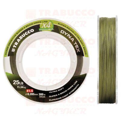 Trabucco Dyna-Tex 4X Power Mossgeen fonott zsinór